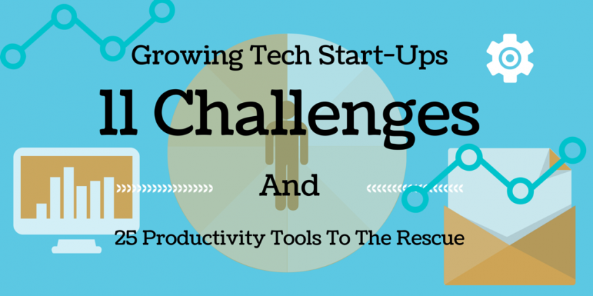 Growing Tech Start-Ups: 11 Challenges and 25 Productivity Tools To The Rescue
