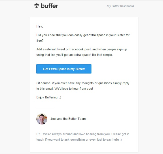 Buffer's Referral Program