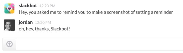 An Example Of SlackBot In Action