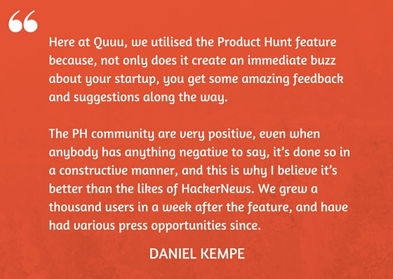 Daniel Kempe On Choosing Product Hunt