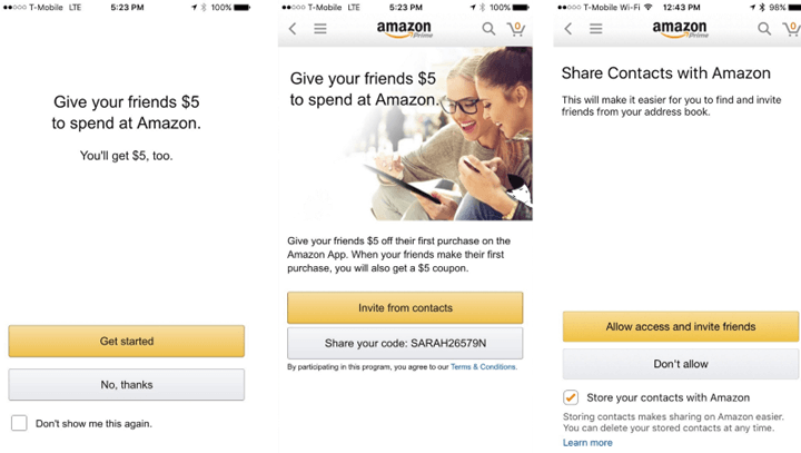 Amazon referral