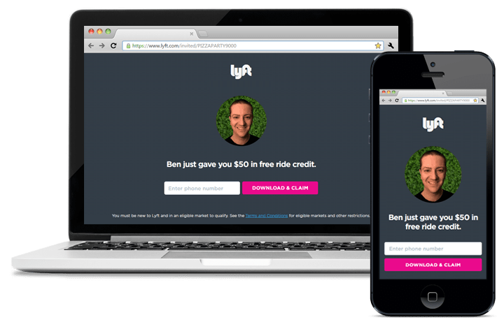 Lyft offers a seamless web to mobile experience