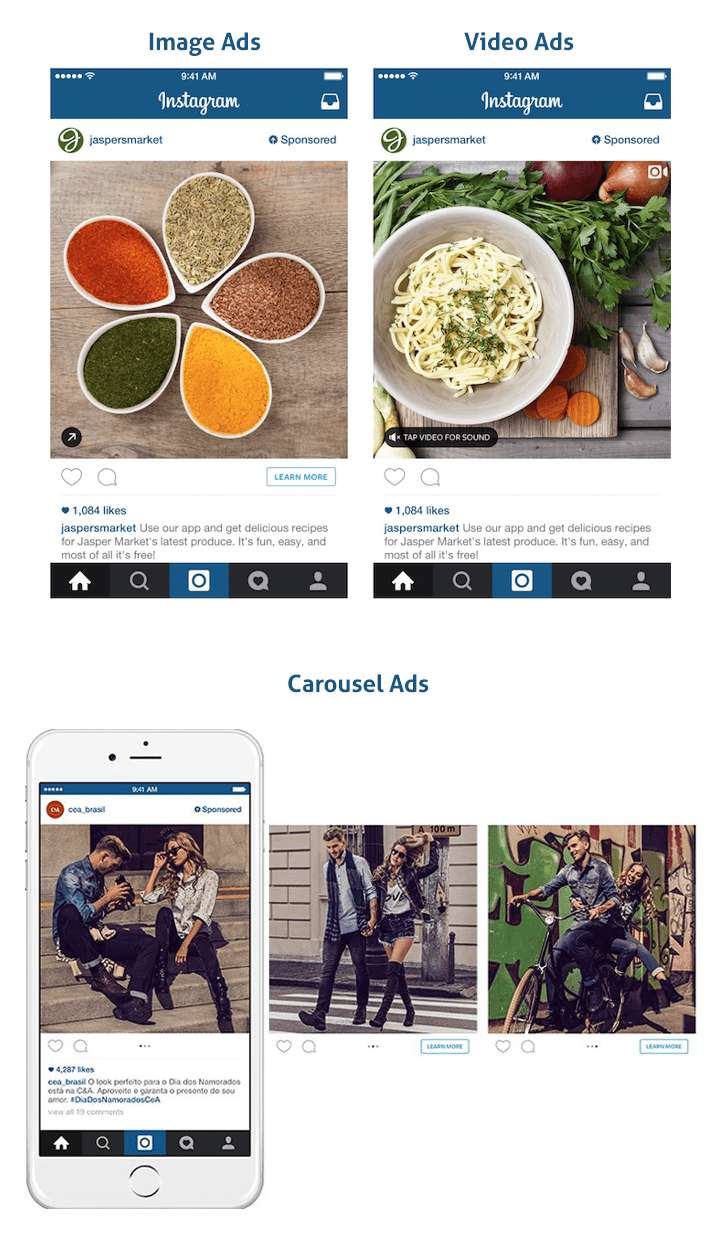 types of instagram ads for app marketers