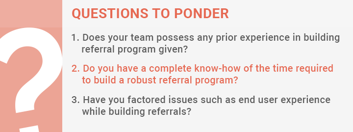 Expertise required to set referral program