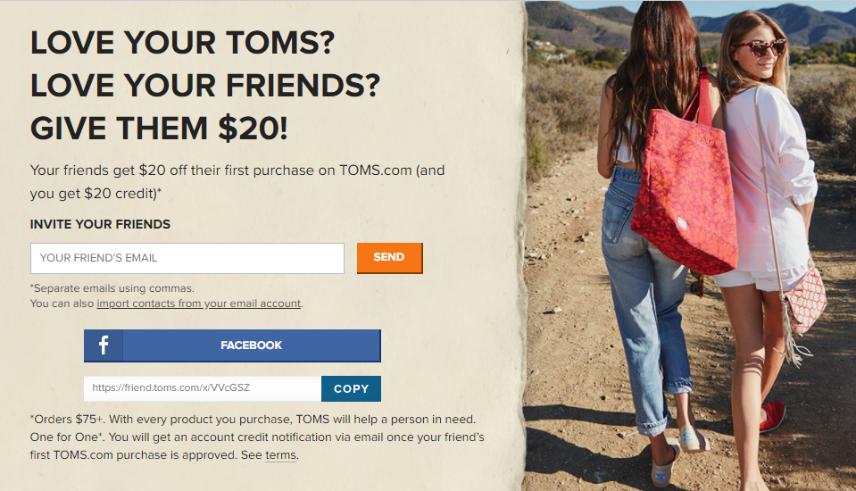Customer Referral program optimization - Toms